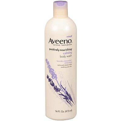 Aveeno Positively Nourishing Aveeno Calming Body Wash, 16 ounces  (Pack of 3) for sale  Nanuet