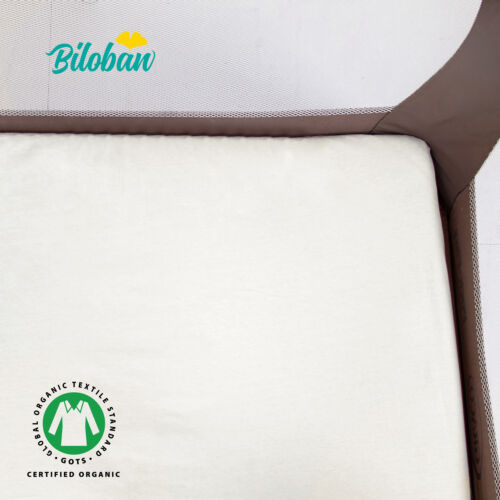 """Pack N Play Mattress Sheets Mini Crib Organic Cotton 2 Pack 39""""x27"""""""