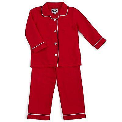 Mud Pie H8 Weihnachten Baby Junge 2-pc Langärmlig Rot Schlafanzüge 1012191 Größe ()