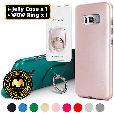 For Galaxy S8   S8  Goospery  Slim I Jelly Slim Case   Wow Ring Holder Kickstand