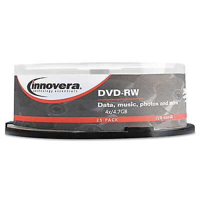 Innovera DVD-RW Discs 4.7GB 4x Spindle Silver 25/Pack 46848