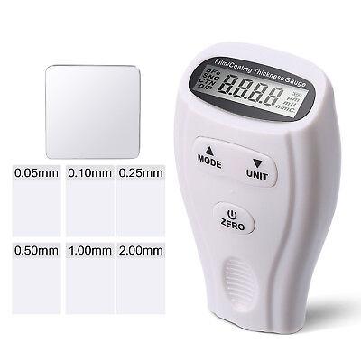 Lcd Digital Car Auto Paint Coating Thickness Gauge Meter Measuring Tool 0-1.80mm