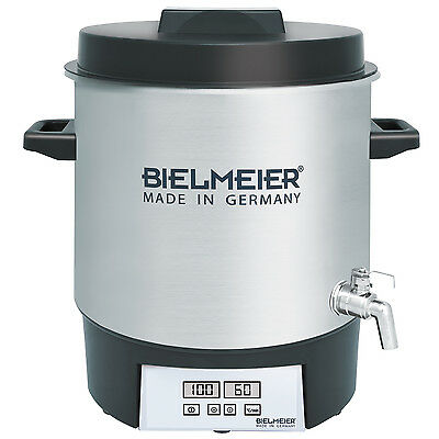 BIELMEIER Einkochautomat Digital / Edelstahl / 27 Liter / 3/8'' Edelstahl-Auslau