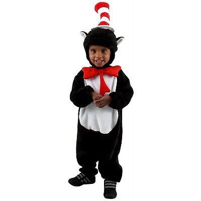 Infant Cat in the Hat Costume Jumpsuit 12-18 Months Halloween Cute Dr. Seuss - Dr Seuss Infant Costumes