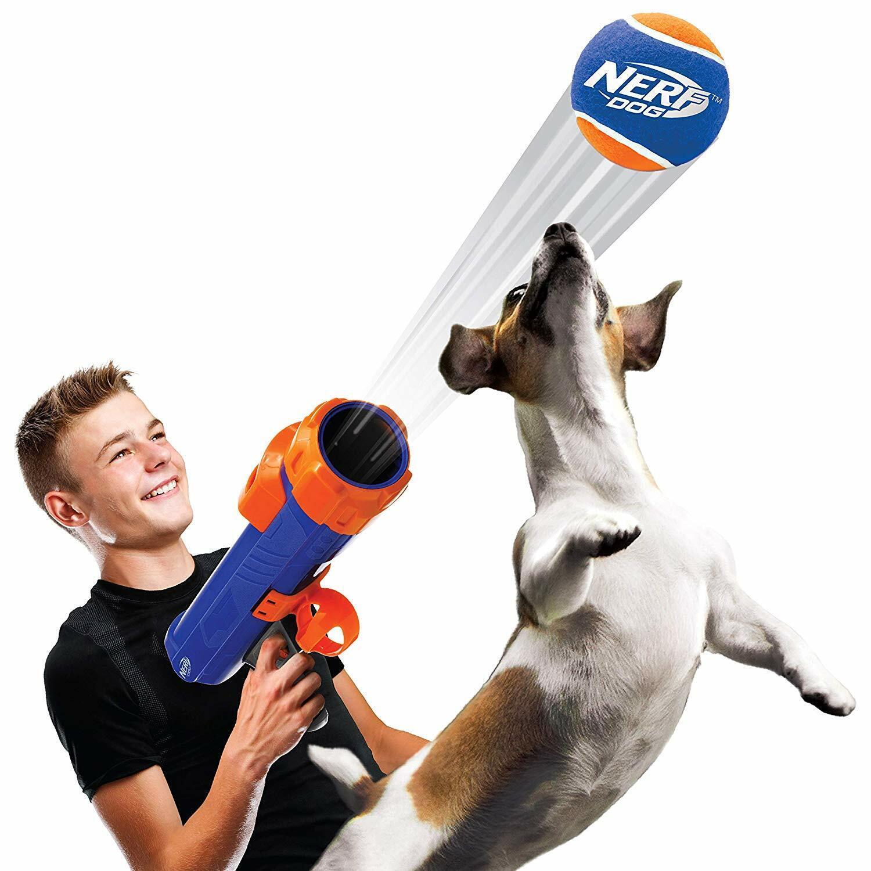 Nerf-Powered Skyrocket Tennis Ball Blaster Gun Dog Fetch Lau