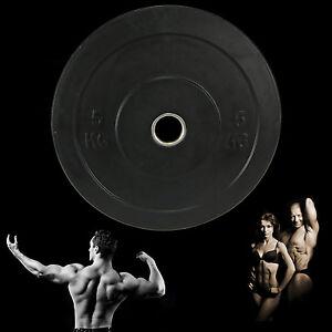 5 kg Hantelscheibe 50mm Studio Langhantel Gummi Olympia Hantel Hanteln Gewicht