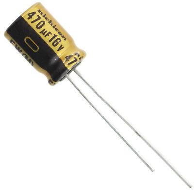 Nichicon Ufw Audio Grade Electrolytic Capacitor 470uf 16v 20 Tolerance