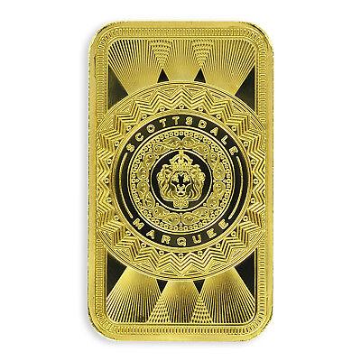 1 oz .9999 Gold Bar Scottsdale Marquee in Certi-Lock #A453