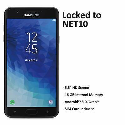 Net10 Samsung Galaxy J7 Crown 4G LTE Prepaid Smartphone Cell Phone - BRAND NEW Net 10 Phones