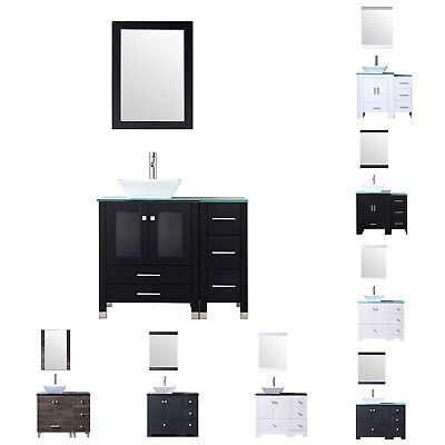 3 Color Bathroom Vanity Plywood Cabinet 36