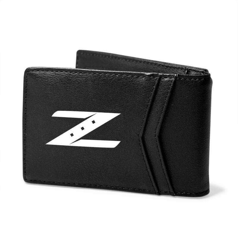 Nissan 350Z Z Logo Black PU Leather Slim RFID Resistant Bi-fold Men Wallet