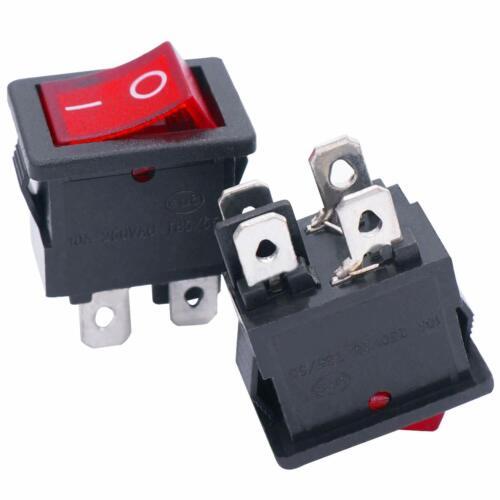 4 Pin Pole DPST Terminal On Off Rocker Toggle Switch 6A 250V AC 10A 125V