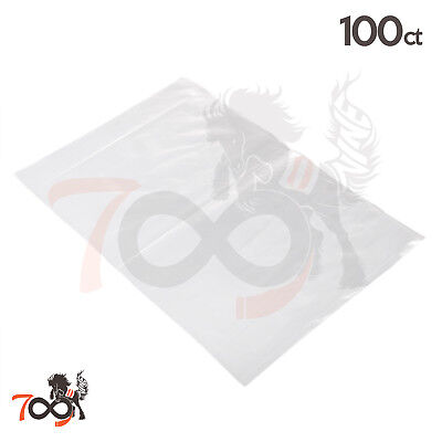 100 2 Mil 12x18 Owlpack Clear Poly Open End No Seal Plastic Storage Bags