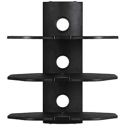 3 Shelf Steel Universal Wall Mount Audio Video DVD PS3 Console Cable Management