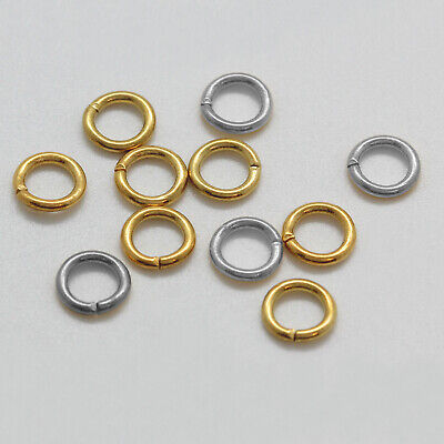 Brass Open Jump Rings for Jewelry Making * Different Colors & Sizes