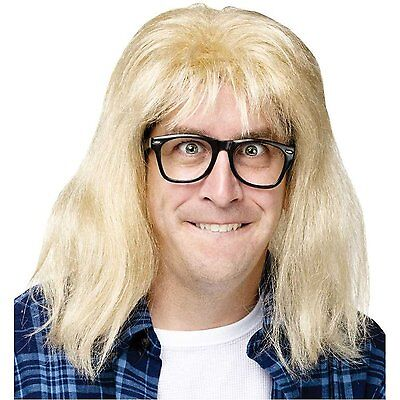 Waynes World Wig (Garth Algar Wig and Glasses - Wayne's World/Saturday Night Live)