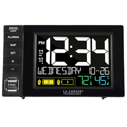 S85906 La Crosse Technology Dual Alarm Clock with 2 USB Charging - Refurbished