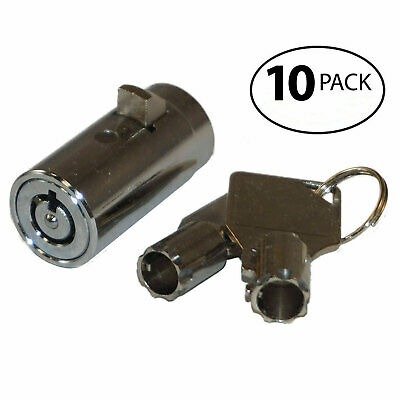 Qty 10 - Replacement Plug Locks For Soda Snack Vending Machine New With Keys
