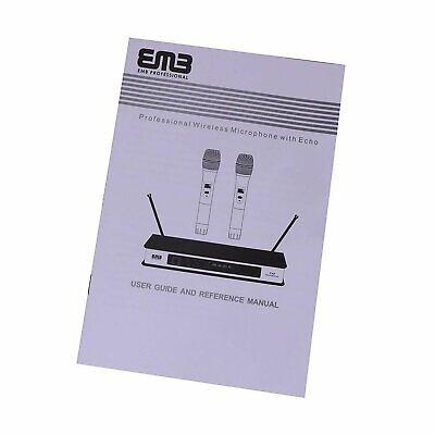 EMB Dual HandHeld Microphone SystemDigital Display for Church Karaoke w Echo
