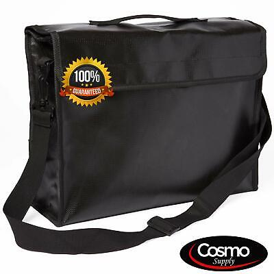 Fireproof Bag For Documents - Large Money Bag With Strap - Waterproof Safe Bag
