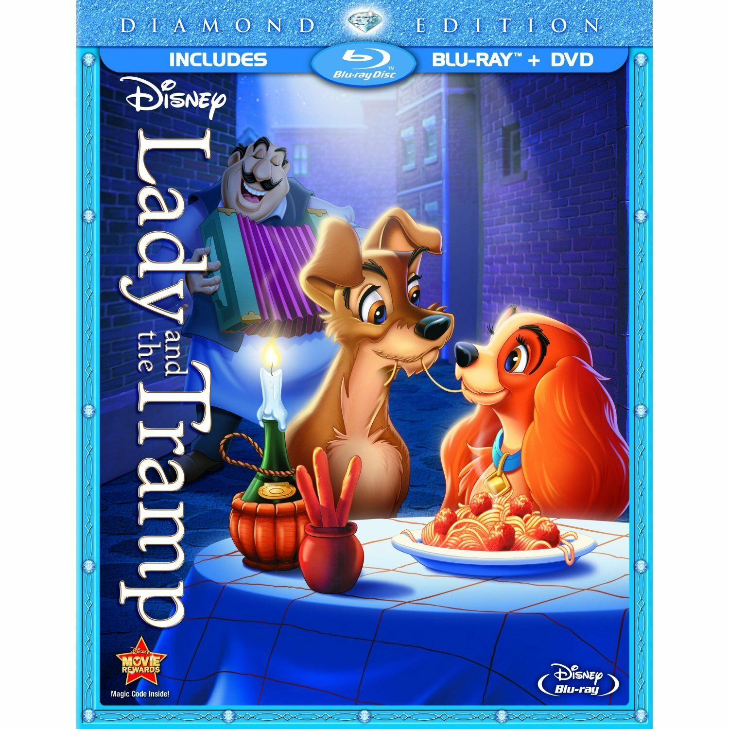 Lady and the Tramp (Blu-ray/DVD, 2012, 2-Disc Set, Diamond Edition)NEW SEALED