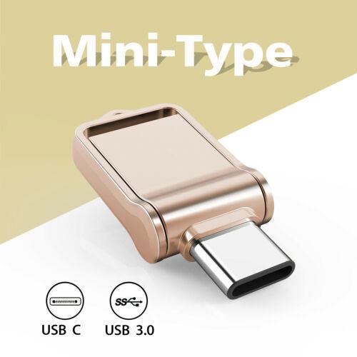 2 In 1 Dual USB3.0 Waterproof 32G /64G/128G Type C OTG Flash
