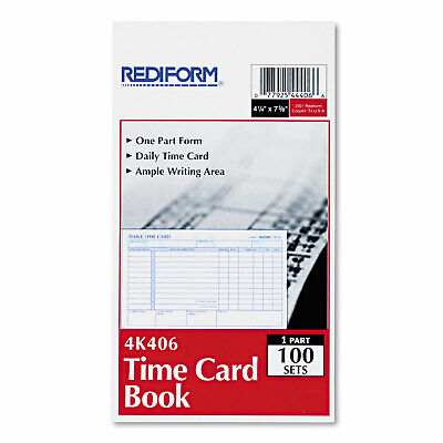 Rediform Employee Time Card Daily Two-sided 4-14 X 7 100pad 4k406