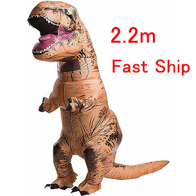 Adult T-Rex Jurassic World Inflatable Dinosaur Costume Blow Up Dress + USB - Dinosaur Costumes