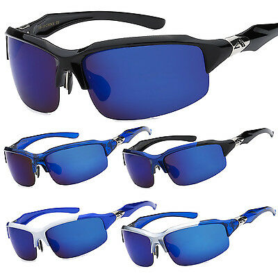 Arctic Blue Mens Cycling Ski Snowboard Sport Sunglasses with BlueTech Lens (Skiing With Sunglasses)