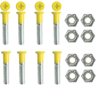 "DIMEBAG Skateboard Hardware 1 Set YELLOW 1"" 8 Bolts with Nuts"
