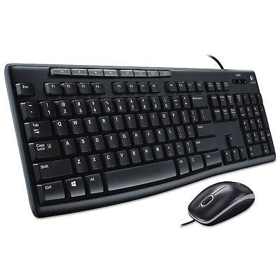 Logitech Mk200 Media Combo Keyboard/mouse Wired Usb Black...