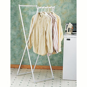 Home Folding Clothes Rack Wet Dry Laundry Organizer Garment Coat Hanging Storage