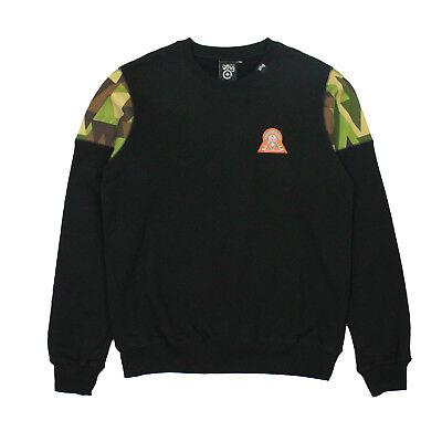 Schwarze Fleece-sweatshirt (Lrg Herren 47 Crew Fleece Sweatshirt Schwarz GRÖSSE S)