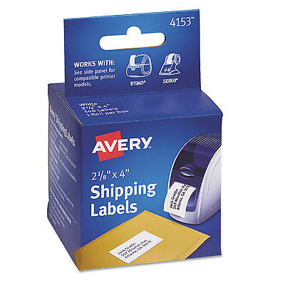 Avery Thermal Printer Shipping Labels 2 18 X 4 White 140roll 1 Roll 4153