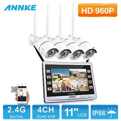 960P 4CH Funk HD WLAN Überwachungsset Kamera Nachtsicht Fernzugriff IP Kamera
