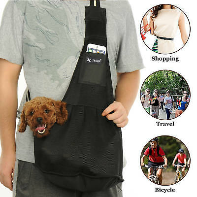 - Pet Carrier Out Bag Dog Cat Puppy Single Shoulder Sling Travel Bag Tote S M L