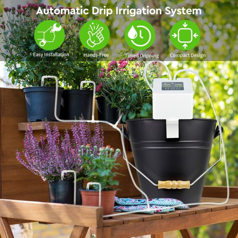 DIY Automatic Watering System Pot Plant Water Drip Irrigation Kit 30 day program
