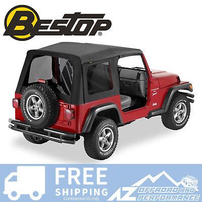 Bestop Supertop Replacement Skin 97-06 Jeep Wrangler TJ Tinted Black Diamond
