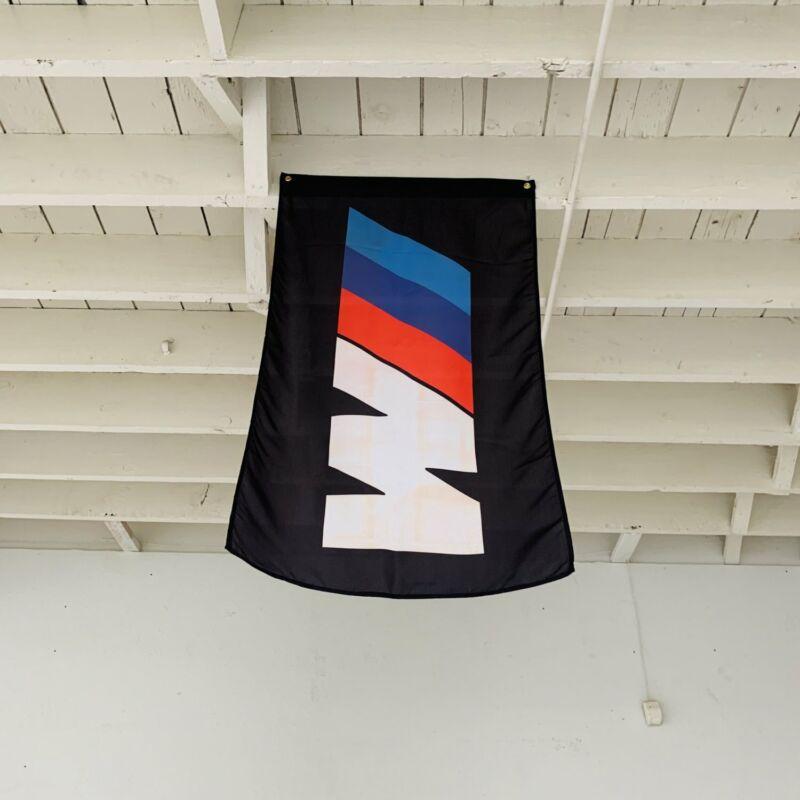 BMW M Series Black Banner WEC Racing Shop Flag 3.2l M1 M2 Mtech M240i E92 M4 M6