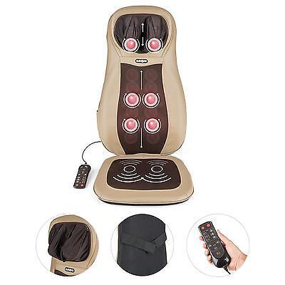 Massage Sitzauflage Massageauflage Shiatsu Massage 3 Zonen Rücken Nacken Braun