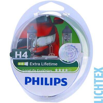 H4 PHILIPS LongLife EcoVision - Scheinwerfer Lampe - DUO-Box NEU segunda mano  Embacar hacia Argentina