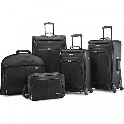 American Tourister 5 Piece Spinner Luggage Set Travel Wheel Upright Garment Bag American Tourister Lightweight Garment Bag