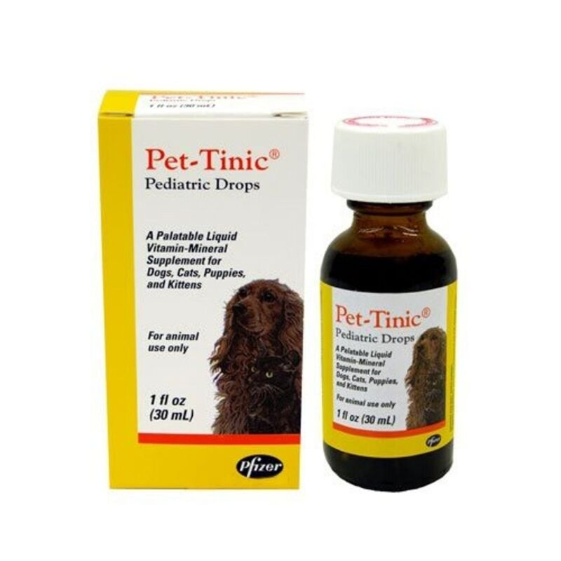 Pet-Tinic Pediatric Drops for Dogs, Cats, Puppies and Kittens, 1 oz. (30 ml)...