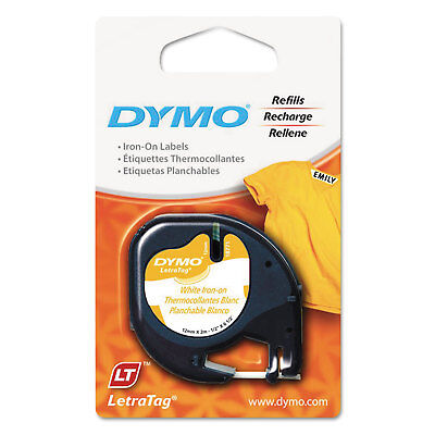 Dymo Letratag Fabric Iron-on Labels 12 X 6 12 Ft White 18771
