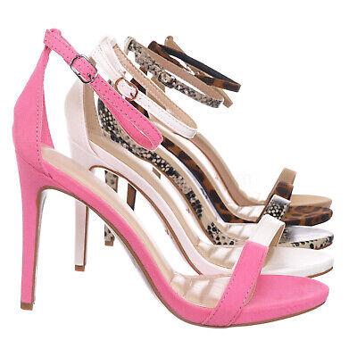 Sugarlove01 High Heel Stiletto Open Toe Sandal - Women Classic Thin Strap -