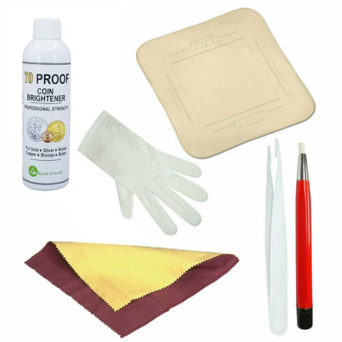 70 Proof Coin Brightener & Cleaner Kit Gold Silver Copper Bronze MS-70