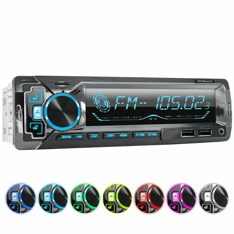 AUTORADIO MIT BLUETOOTH FREISPRECH-EINRICHTUNG 2xUSB SD AUX MP3 ID3-Tag 1DIN ISO