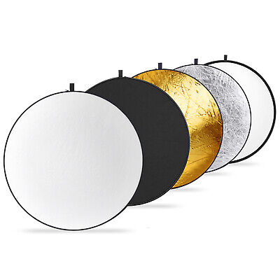 Neewer Round 5-in-1 Collapsible Multi-Disc Light Reflector with Carrying Case Collapsible Disc Light Reflector