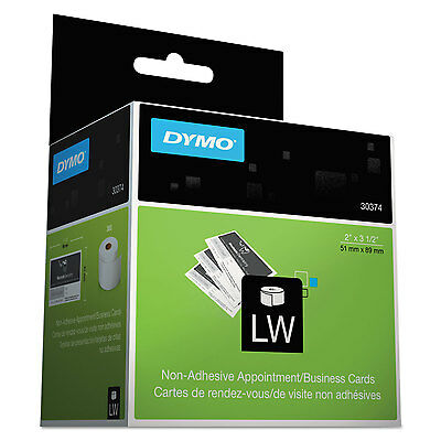 Dymo Labelwriter Businessappointment Cards 2 X 3 12 White 300 Labelsroll