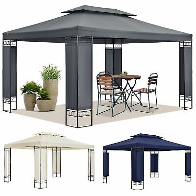 Pavillon Gartenzelt Partyzelt Gartenpavillon beige grau blau 3x4 m ArtLife®